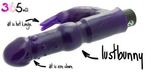 Dit is een afbeelding van lustbunny vibrator