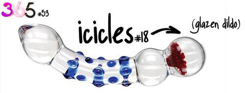 Dit is een afbeelding van de icicles glazen dildo