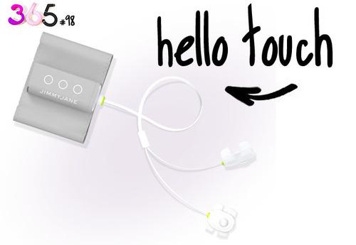 Dit is een afbeelding van de hello touch van jimmy jane vibrator hand