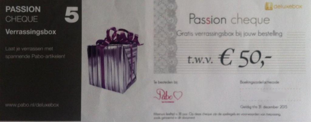 passion cheque verrassingsbox