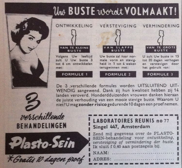 vintage advertentie borstvergroting