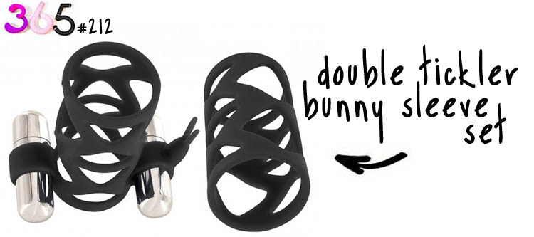 double tickler bunny sleeve set