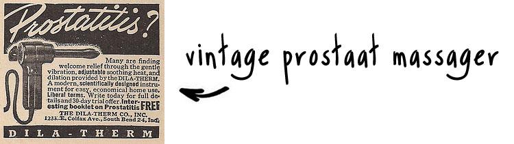 vintage prostaat massager