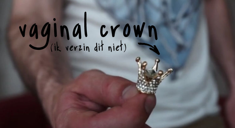vaginal crown