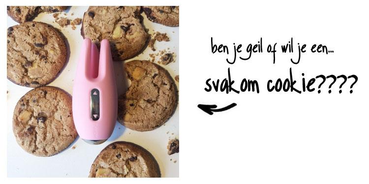 Dit is een afbeelding van svakom cookie vibrator cookie