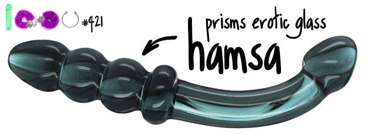 Dit is een afbeelding van prisms erotic glass hamsa