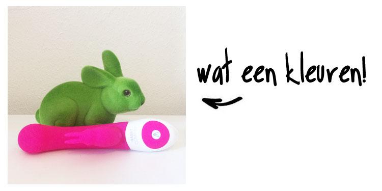 Dit is een afbeelding van rabbit company vibrator g spot rabbit