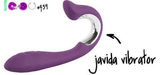 Dit is een afbeelding van javida vibrator met clitoris stimulator