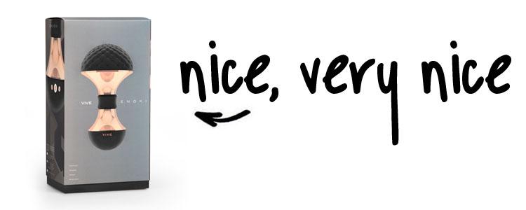 Dit is een afbeelding van vive enoki verpakking vibrator