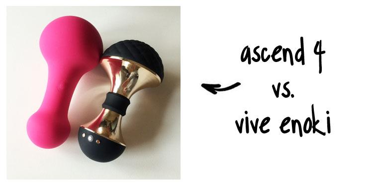 Dit is een afbeelding van vive enoki vibrator vs jimmyjane ascend 4