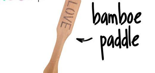 Dit is een afbeelding van bamboe paddle love