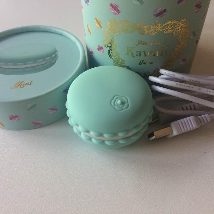 Dit is een afbeelding van verpakking cute kawaii macaroon vibrator macaron