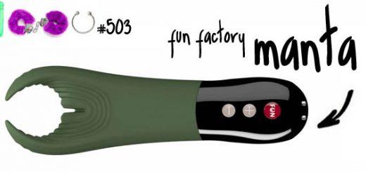 Dit is een afbeelding van fun factory manta review vibrator for men couples