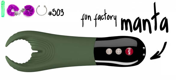 Dit is een afbeelding van fun factory manta review vibrator for men couples