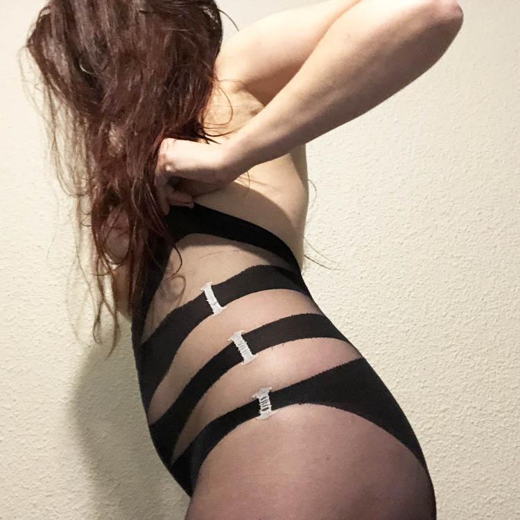 Dit is een afbeelding van zijkant lingerie