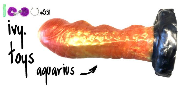 Dit is een afbeelding van ivy toys dildo aquarius grote dildo luna review test