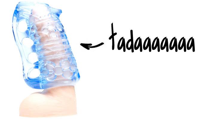 Dit is een afbeelding van fleshkins blue ice grip masturbator