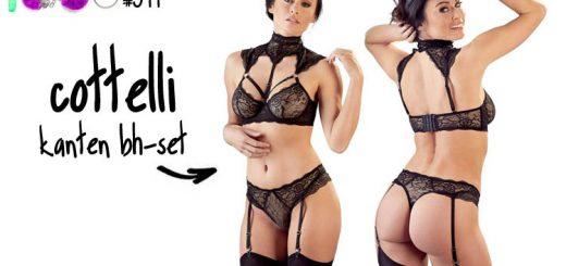 Dit is een afbeelding van cottelli kanten bh lingerie set