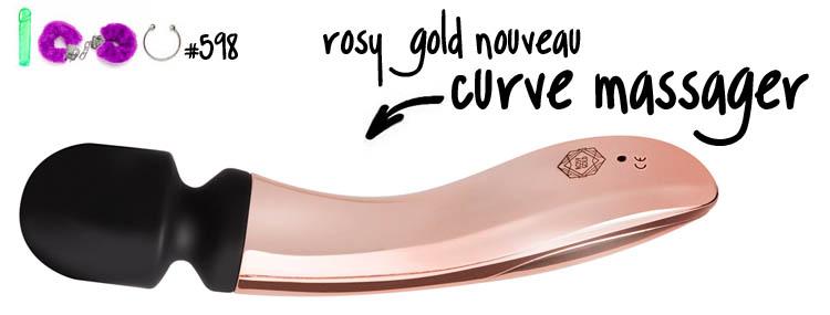 Dit is een afbeelding van rosy gold nouveau curve massager