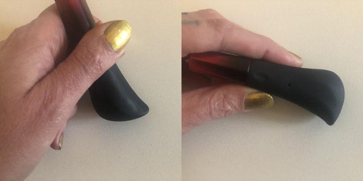 Dit is een afbeelding van hoe houdt je een vibrator vast