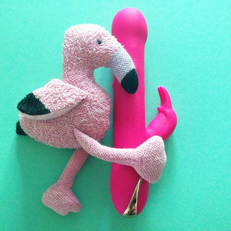 Dit is een afbeelding van flamingo fun met vibrator