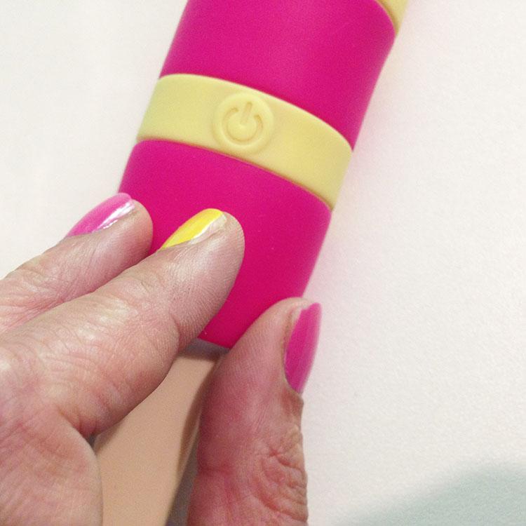 Dit is een afbeelding van knopje van de ijsjes vibrator