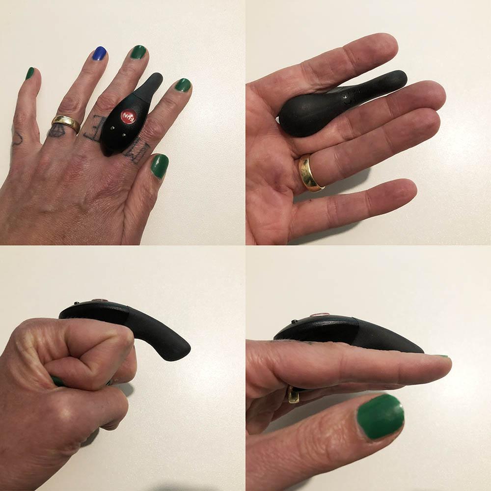 Dit is een afbeelding van vingers met fun factory be one