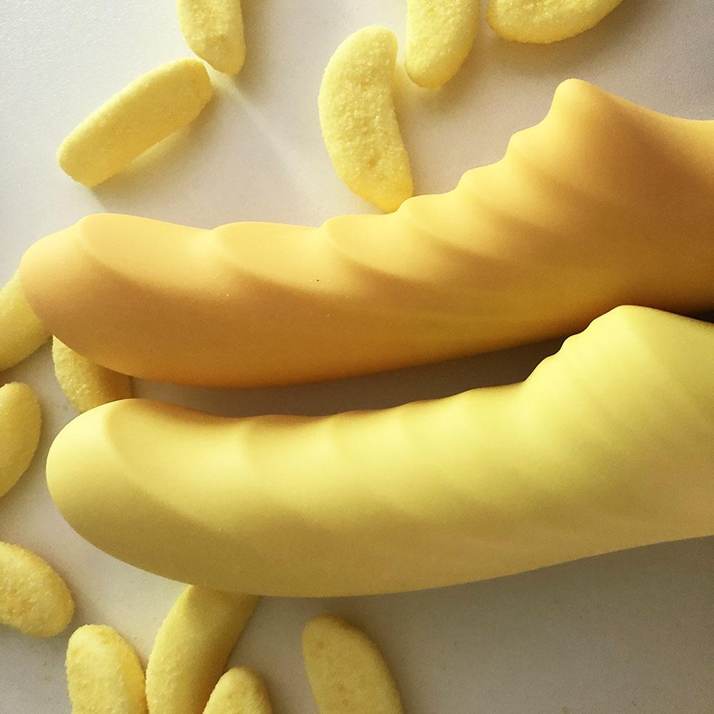 Dit is een afbeelding van tone vibrator geel