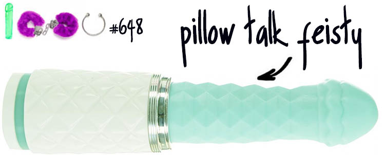 Dit is een afbeelding van pillow talk feisty stotende vibrator review