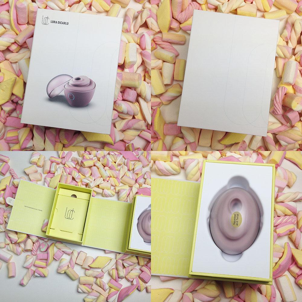 Dit is een afbeelding van verpakking lora dicarlo baci