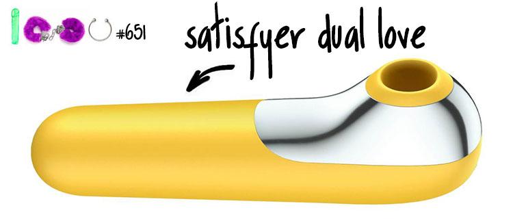 Dit is een afbeelding van satisfyer dual love luchtdruk vibrator