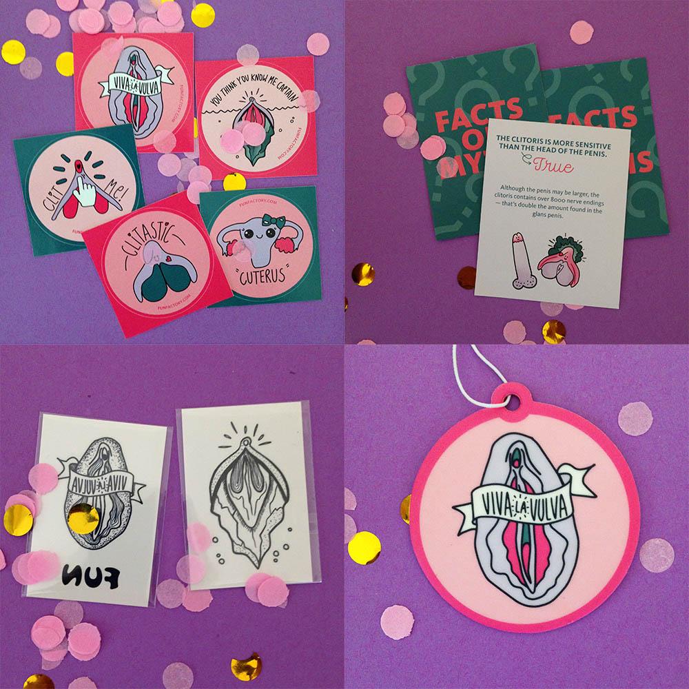 Dit is een afbeelding van stickers en leuke dingetjes bij clitkit stronic petite